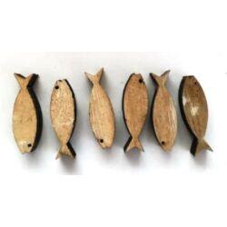 Hal dekoráció fából 3 cm