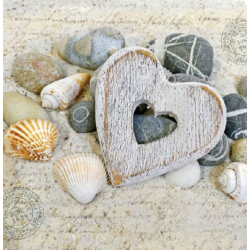 Szalvéta - Szív, kagyló, kavics