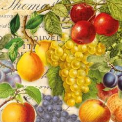 Koktél szalvéta - Őszi gyümölcsök