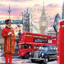 Koktél szalvéta - Londoni utca