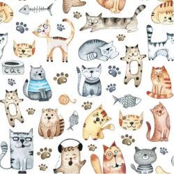 Szalvéta - Cuki rajzolt cicák