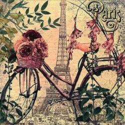 Szalvéta - Bicikli Párizs