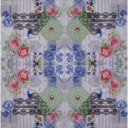Szalvéta - Páva rózsás