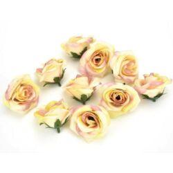 Rózsafej kicsi 10db/csomag, pink-sárga