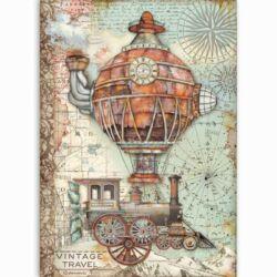 Rizspapír A4 - Sir Vagabond - vintage utazás
