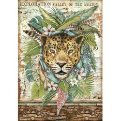 Rizspapír A4 - Amazónia jaguár