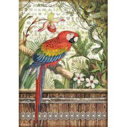 Rizspapír A4 - Amazónia papagáj