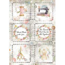 Rizspapír A4 - Romantika mini kártyák