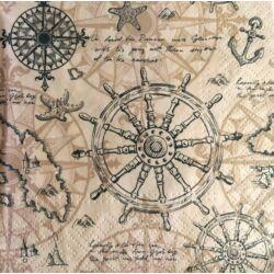 Szalvéta - Hajókormány