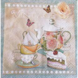Szalvéta - Tea, vintage