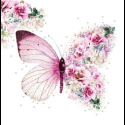 Szalvéta - Virágos pillangó