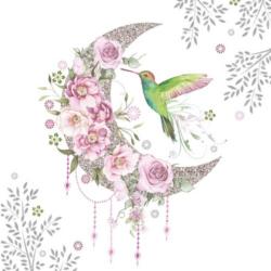 Szalvéta - Kolibri virág mimtás holddal