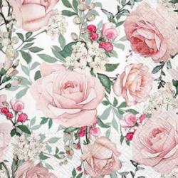 Szalvéta - Rózsaszín rózsák