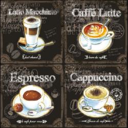 Szalvéta - Kávé varriációk