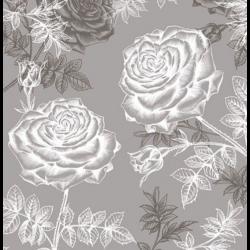Szalvéta - Rózsa karckép, szürke