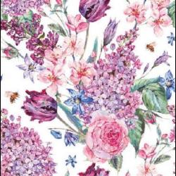 Koktél szalvéta - Virágcsokor