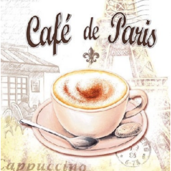 Koktél szalvéta - Cappuccino Párizs