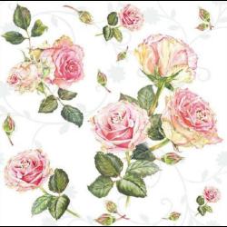 Szalvéta - Rózsa, indás háttér