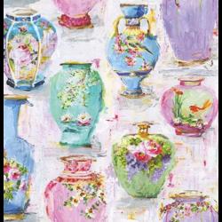 Szalvéta - Festett vázák