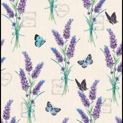 Szalvéta - Levendula, pillangós