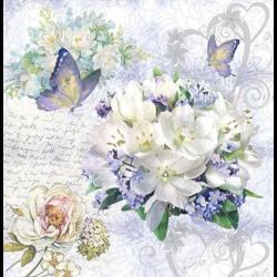 Szlavéta - Virágcsokor pillangós, szíves, lilac