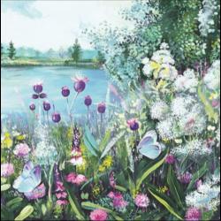 Szalvéta - Tópart festmény