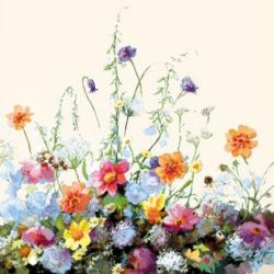 Szalvéta - Nyári virágok festmény