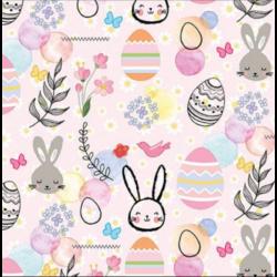 Szalvéta - Húsvéti minták, rózsaszín