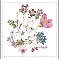 Szalvéta - Virágcsokor keretben