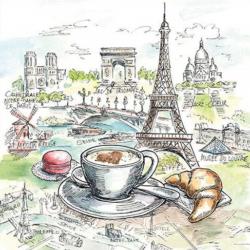 Szalvéta - Francia reggeli
