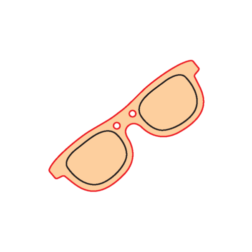 Mini Gomb Fafigura - Napszemüveg