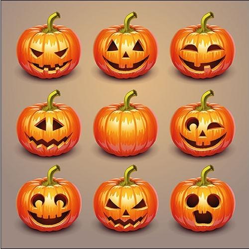 Szalvéta - Halloween tökök