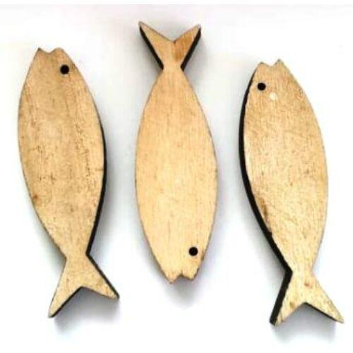 Hal dekoráció fából 7 cm