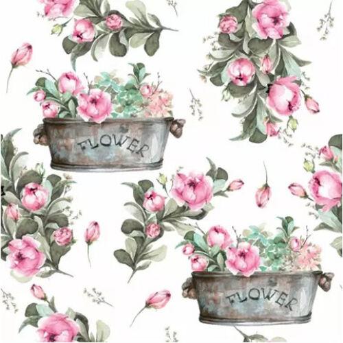 Szalvéta - Rózsaszín virág dekoráció