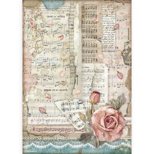 Rizspapír A4 - Szenvedély rózsák és zene