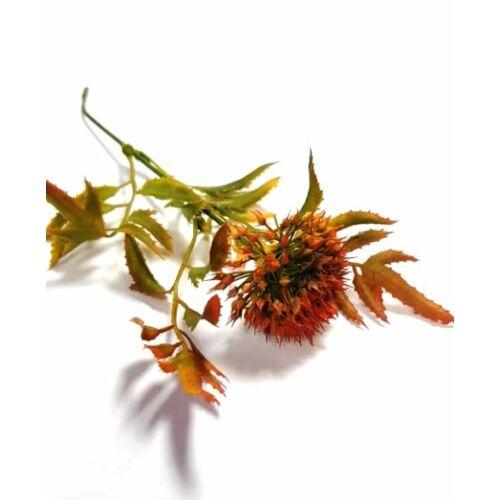 Zöld ág betűző, nagy narancs színű virág