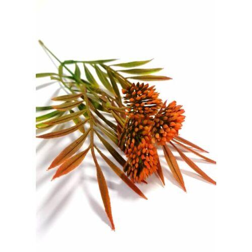 Zöld ág betűző, narancs színű virág