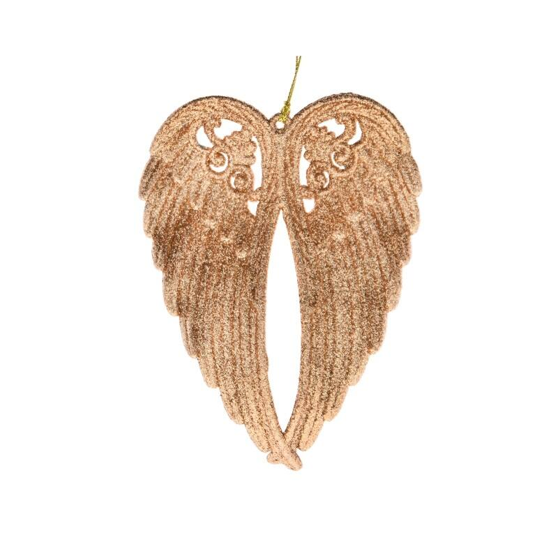 Glitteres angyalszárny, bronz