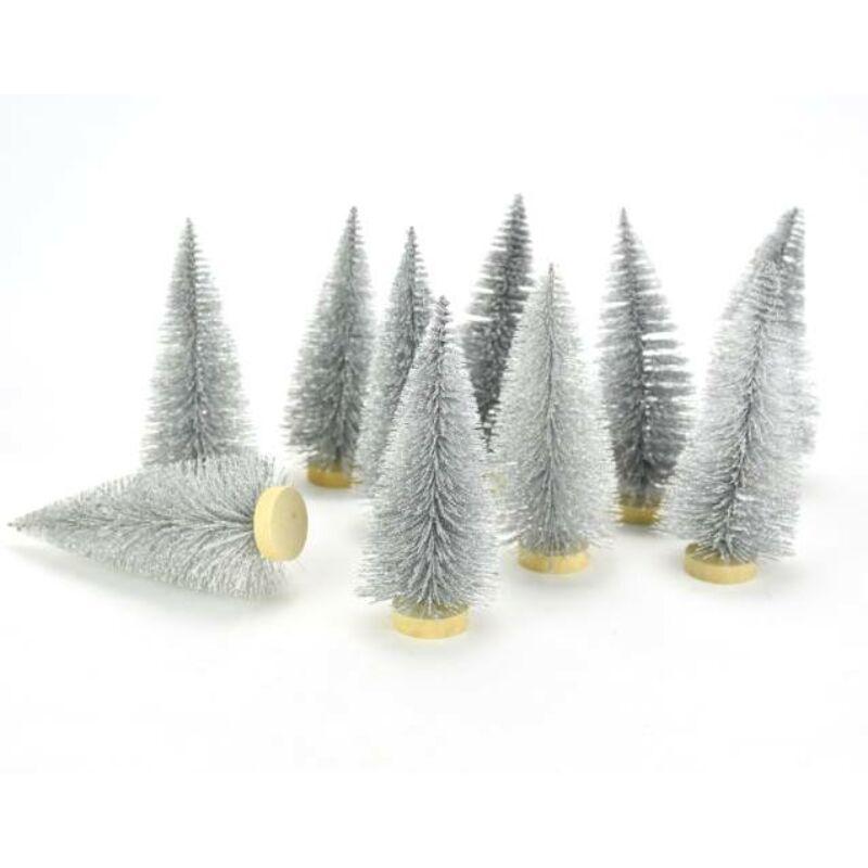 Fenyőfa ezüst glitteres 12cm