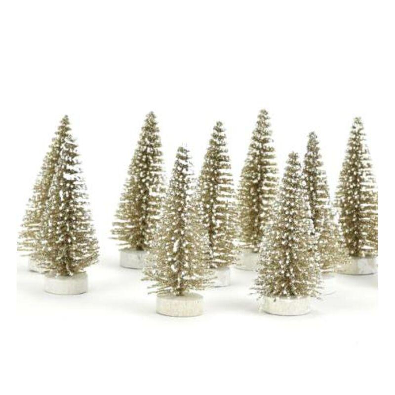 Fenyőfa arany  glitteres10cm