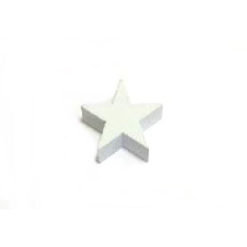 Fehér fa csillag vastag 3cm