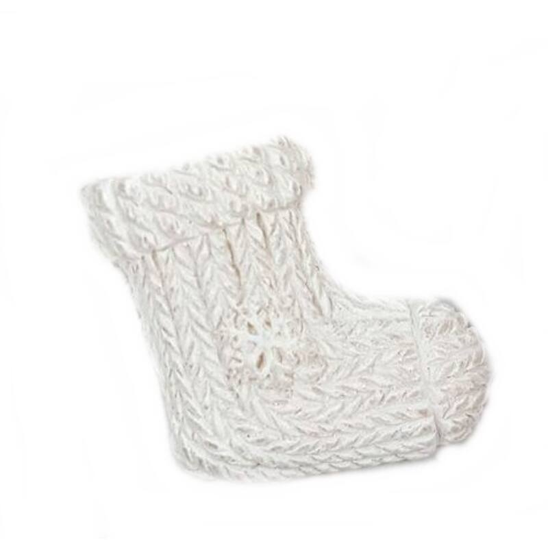 Fehér kötött zokni, öntapis