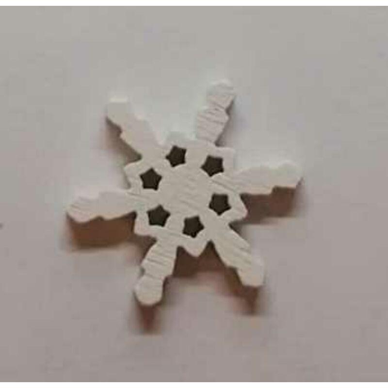 Fafigura - Mini hókristály fehér