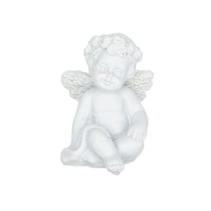 Ülő angyalka, fehér