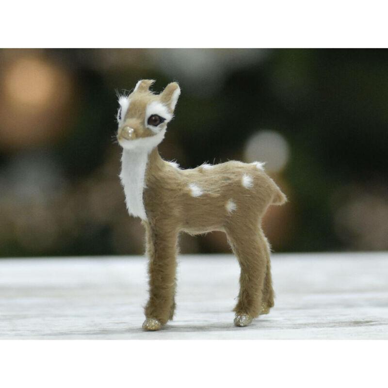 Csillámos patás szőrős bambi 9cm