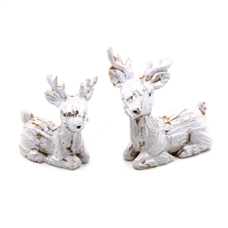Fehér-arany szarvas pár, 2db/csomag