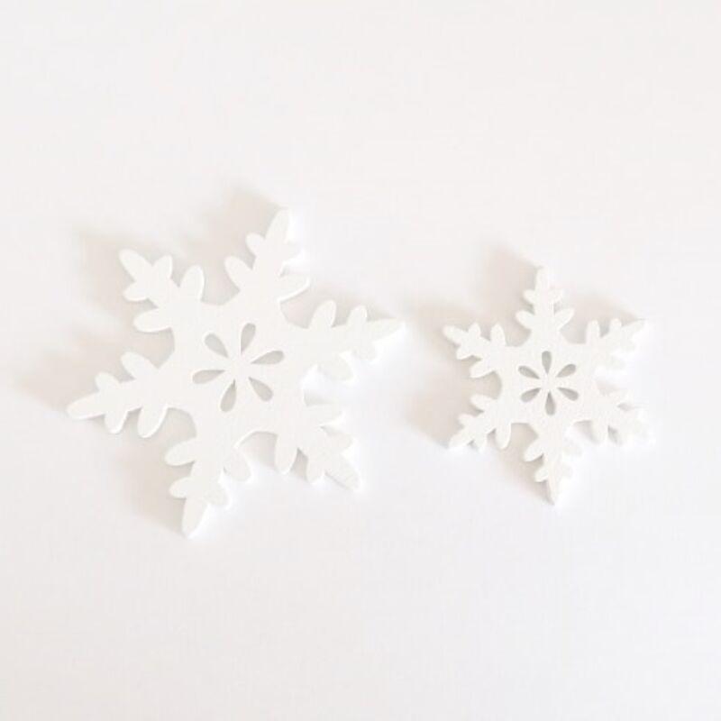 Fa dekor hókristály mix - Fehér