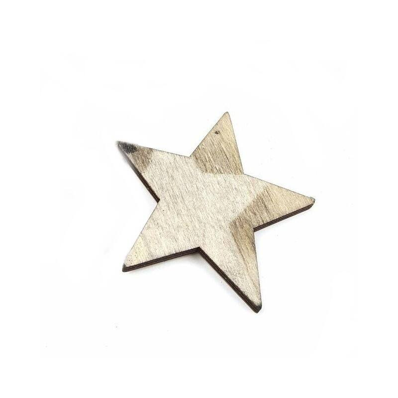 Fa dekor téli csillag - Sötét szürke