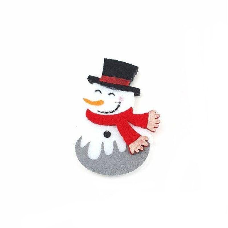 Filc mosolygós hóember figura