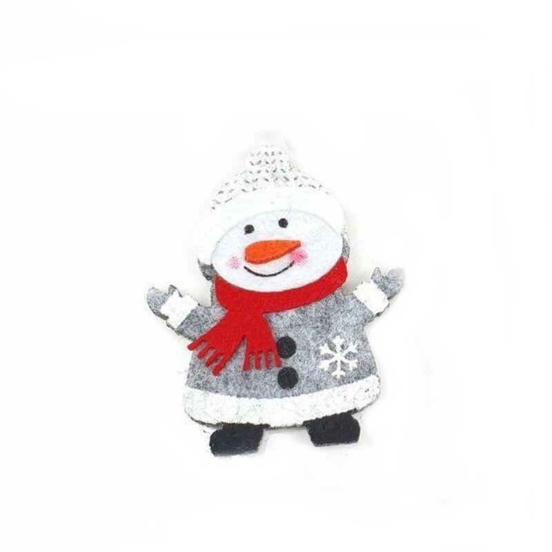 Filcpiros sálas hóember figura